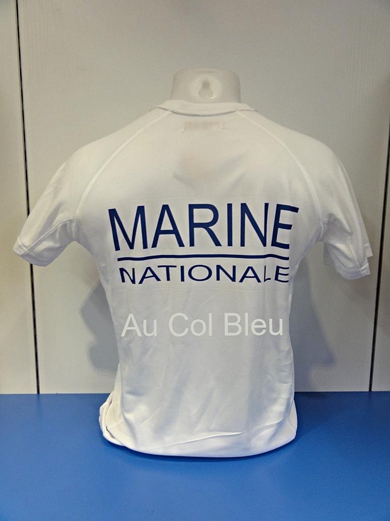 tee shirt marine nationale sport tsmms au col bleu. Black Bedroom Furniture Sets. Home Design Ideas
